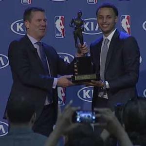 Stephen Curry Presented the Kia MVP Award
