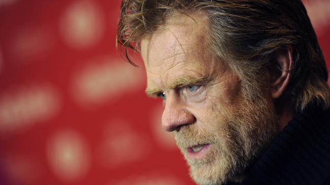 "William H. Macy, writer/director/cast member of ""Rudderless,"" is interviewed at the premiere of the film at the 2014 Sundance Film Festival, on Friday, Jan. 24, 2014, in Park City, Utah. (Photo by Chris Pizzello/Invision/AP)"