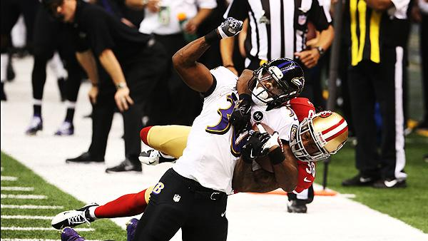 NFL tackle-Super Bowl between Baltimire Ravens and San Francisco 49ers