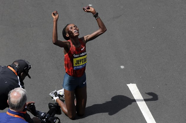 Rita Jeptoo. (AP Photo/Charles Krupa, File)