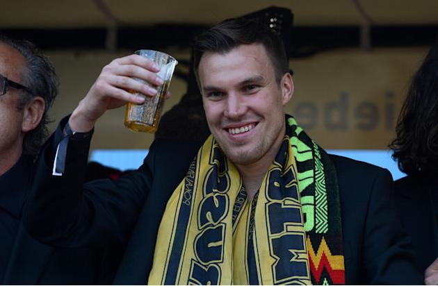 Dortmund's Striker Kevin Grosskreutz Celebrates AFP/Getty Images