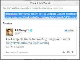 How to Embed Tweets on Your Website and Blog image Embed Tweet Code With Preview