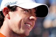 Rory McIlroy of Northern Ireland smiles after winning his match against Sang-moon Bae of South Korea during the quarterfinal round of the World Golf Championships-Accenture Match Play Championship at the Ritz-Carlton Golf Club in Marana, Arizona