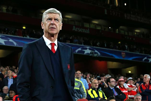 Arsenal's French manager Arsene Wenger looks on ahead of the UEFA Champions League Group A football match between Arsenal and FC Basel at The Emirates Stadium in London