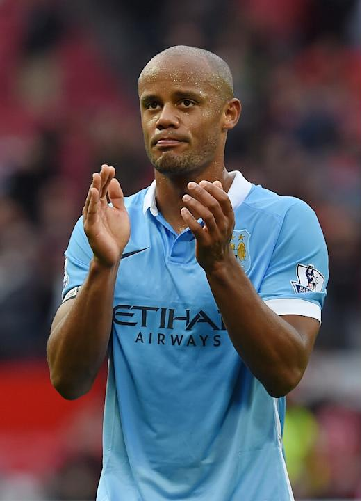 Manchester City's captain Vincent Kompany has been out of action since a 4-1 win over Sunderland on Boxing Day