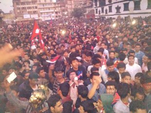 After the historic win in ICC WT20, Nepalese celebrate in streets of Kathmandu