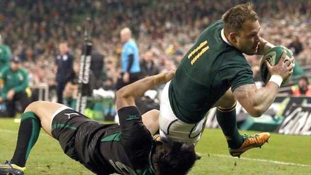 Rugby - South Africa edge out Ireland