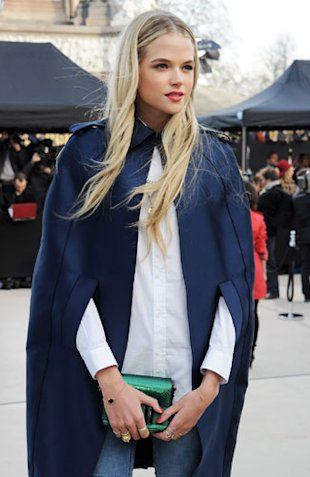 Gabriella Wilde at Burberry LFW AW13