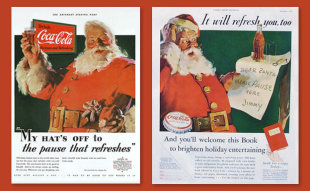 Holiday Advertising from Coca Cola image CocaCola Images Santa