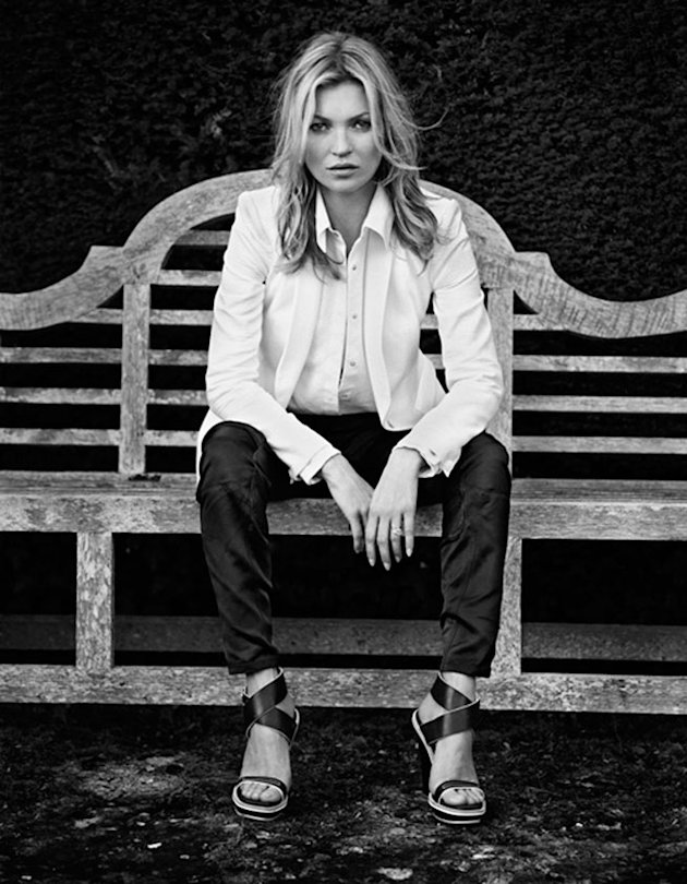 Kate Moss Models In The Cotswolds For Her Second Rag & Bone Campaign In A Row!