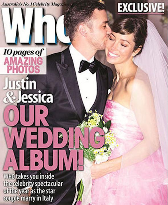 Justin Timberlake e Jessica Biel.