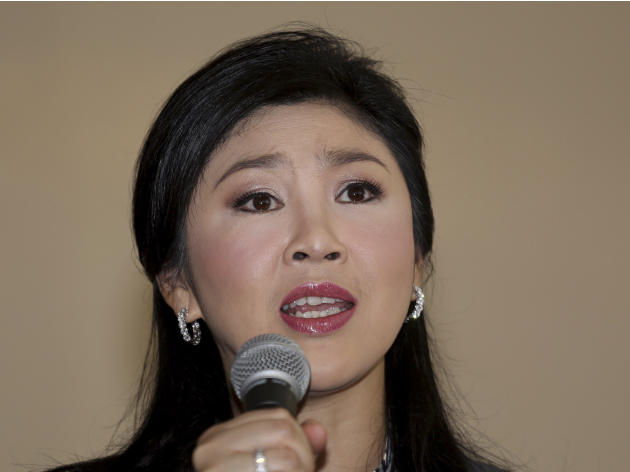 Thai Prime Minister Yingluck Shinawatra answers questions during an interview with theforeign media at the office of Permanent Secretary for Defense on the outskirts of Bangkok, Thailand, Friday, Jan.