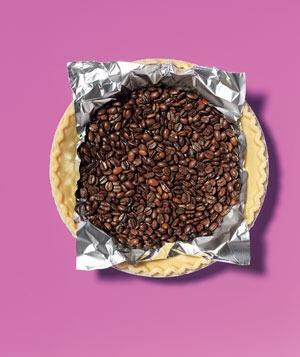 Coffee Beans as Pie Weights