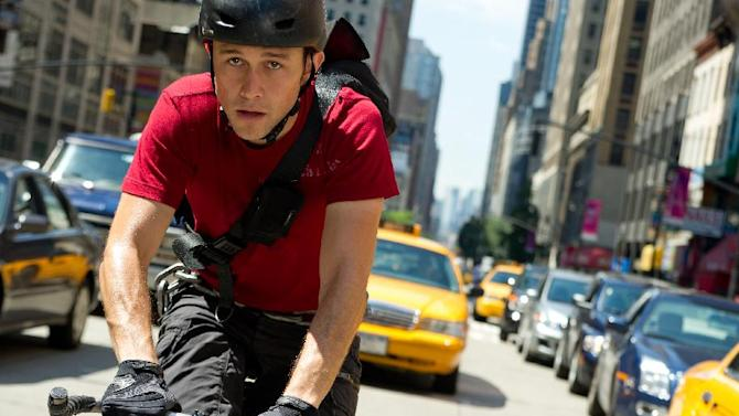 "This film image released by Columbia Pictures shows Joseph Gordon-Levitt in a scene from ""Premium Rush."" (AP Photo/Columbia Pictures - Sony, Sarah Shatz)"