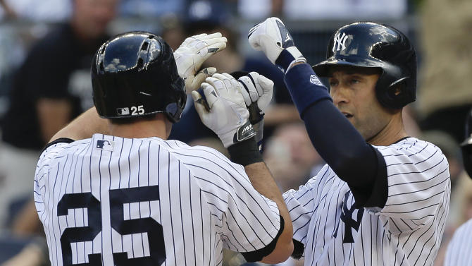 Yankees hit 5 homers in 7-1 win over Pirates