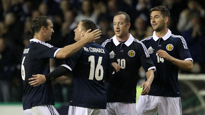 Ross McCormack came off the bench to score for Scotland