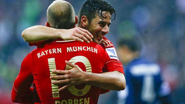 Bundesliga - Bayern Munich seal fastest ever title after win over Frankfurt