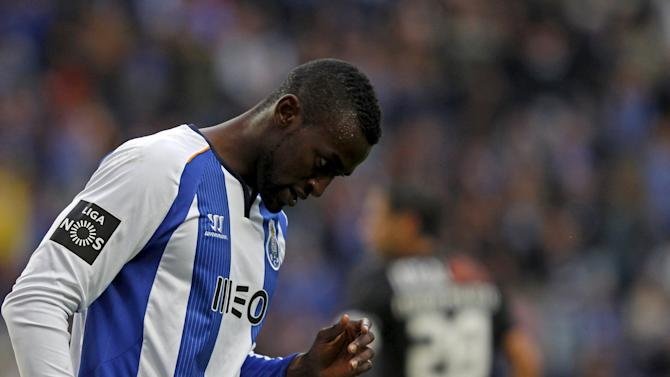 Porto's Jackson Martinez reacts during their Portuguese Premier League soccer match against Academica held at Dragao stadium in Porto