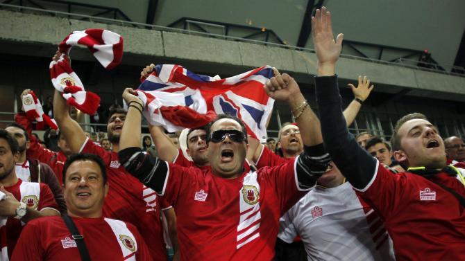 Gibraltar ties Slovakia 0-0 in European debut