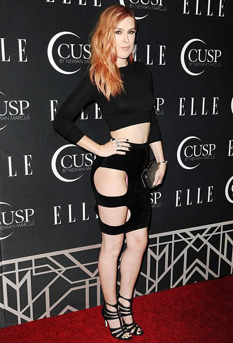 Rumer Willis Flashes Underwear in Cutout Skirt at Elle Women in Music Celebration: Pictures
