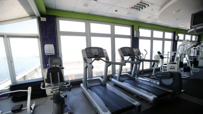 A view of the gym of the Caesar Park hotel, where the Netherlands soccer squad is staying for the FIFA 2014 World Cup, in Rio de Janeiro