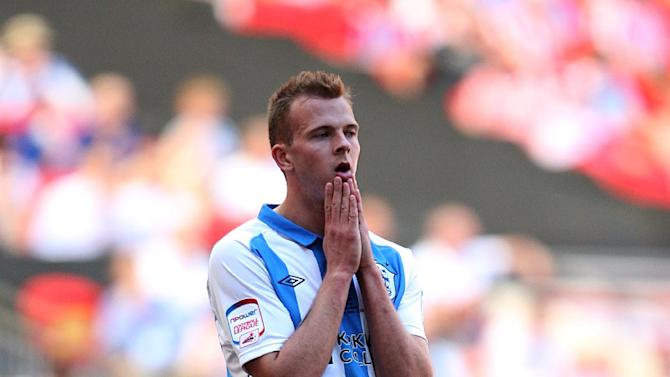 Jordan Rhodes could not play in Huddersfield's match with Cardiff due to injury