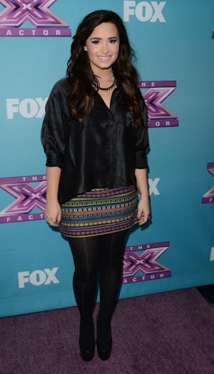 Demi Lovato attends Fox's 'The X Factor' season finale news conference at CBS Televison City on December 17, 2012 in Los Angeles -- Getty Images