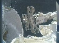 The grapple bars delivered to the Space Station by SpaceX's Dragon capsule were unloaded today (March 6).