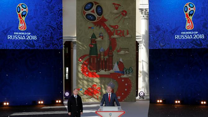 Russian President Putin and FIFA President Infantino attend launching ceremony of 2018 World Cup and 2017 Confederations Cup volunteer campaign in Moscow