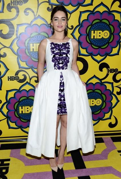 Emilia Clarke arrives at HBO's Annual Emmy Awards Post Awards Reception at the Pacific Design Center, West Hollywood, on September 23, 2012 -- Getty Images