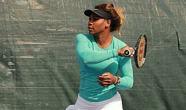 Serena Williams S Warmup For The Match Vs Sam Stosur At