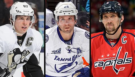 2013 Ted Lindsay Award finalists: Sidney Crosby, Martin St-Louis and Alex Ovechkin