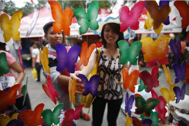 Colorful handy crafts display at Aliwan Fiesta in Manila