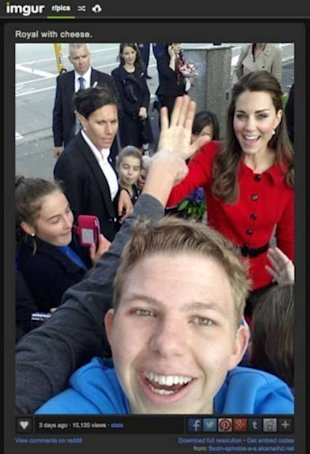Kate Middleton, photobomb