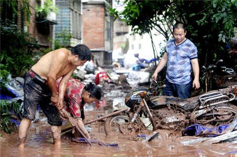 Chinese floods and mudslides
