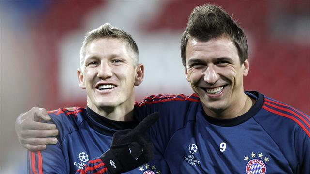 Bundesliga - Schweinsteiger, Mandzukic ruled out of cup final