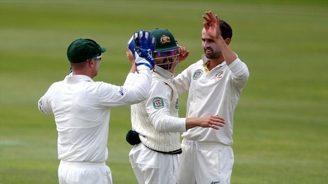 Ashes - England collapse to leave Australia in control as Lyon shines