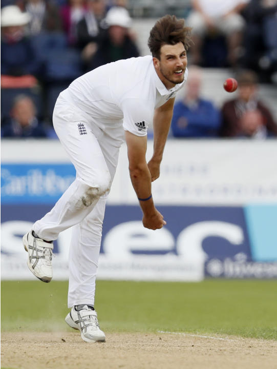 England's Steven Finn in action