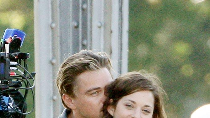 Dicaprio Cotillard Paris Film Set