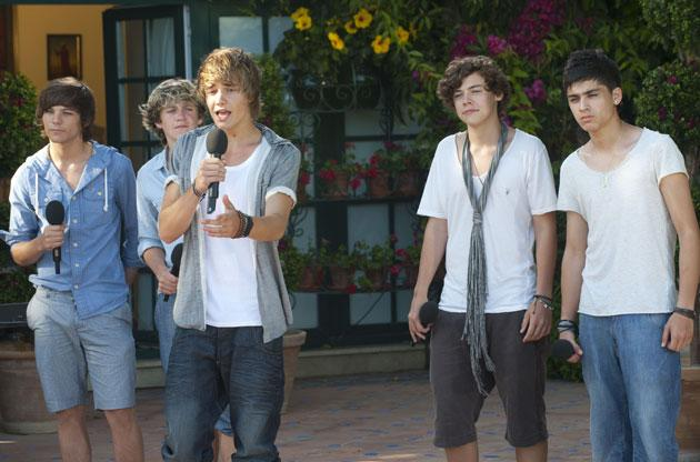 The One Direction boys at boot camp
