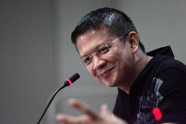 Re-electionist Senator Francis Escudero is seen during the regular forum at the Senate in Pasay City, south of Manila, on 17 January 2013. Escudero talked about his thoughts on Senate President Juan Ponce Enrile and Senator Miriam Defensor Santiago's word war and his plans on the upcoming mid-term election. (Voltaire Domingo/NPPA Images)