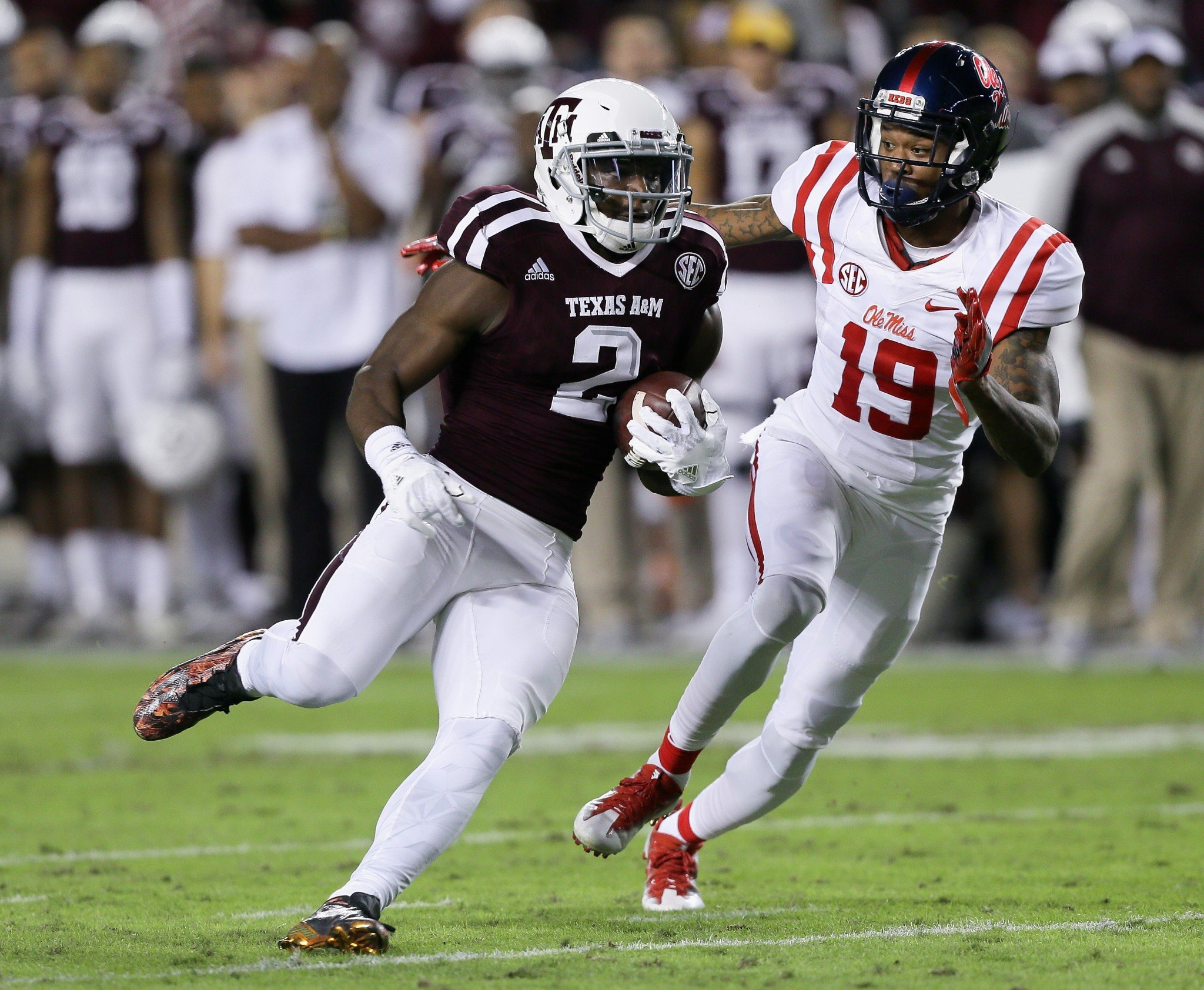 Speedy Noil has 42 catches in the past two years after 46 as a freshman in 2014. (Getty)
