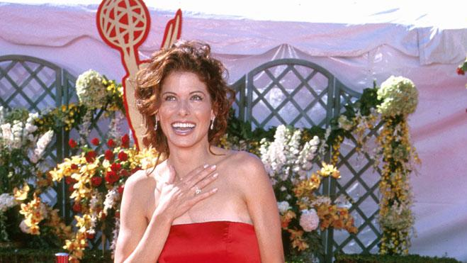 Debra Messing at The 52nd Annual Primetime Emmy Awards.