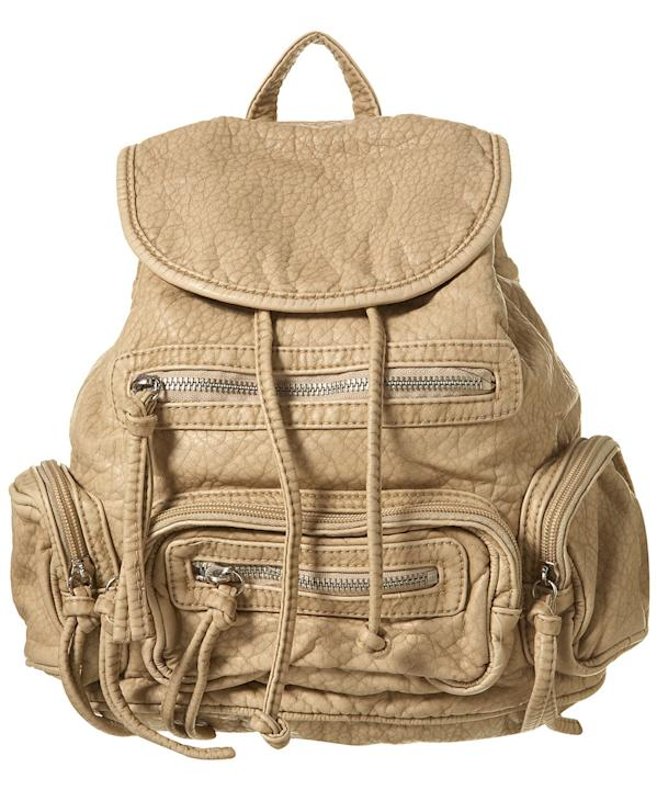Nude Washed Zip Pocket Rucksack, $56, at Topshop