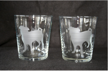 Etched Pug Glasses