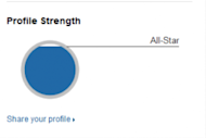 10 Sharp Ways to Boost the Visibility of Your LinkedIn Profile image profile strength 300x200