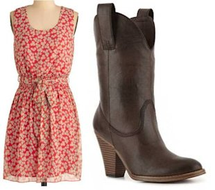 Warm Up a Summer Dress With Boots