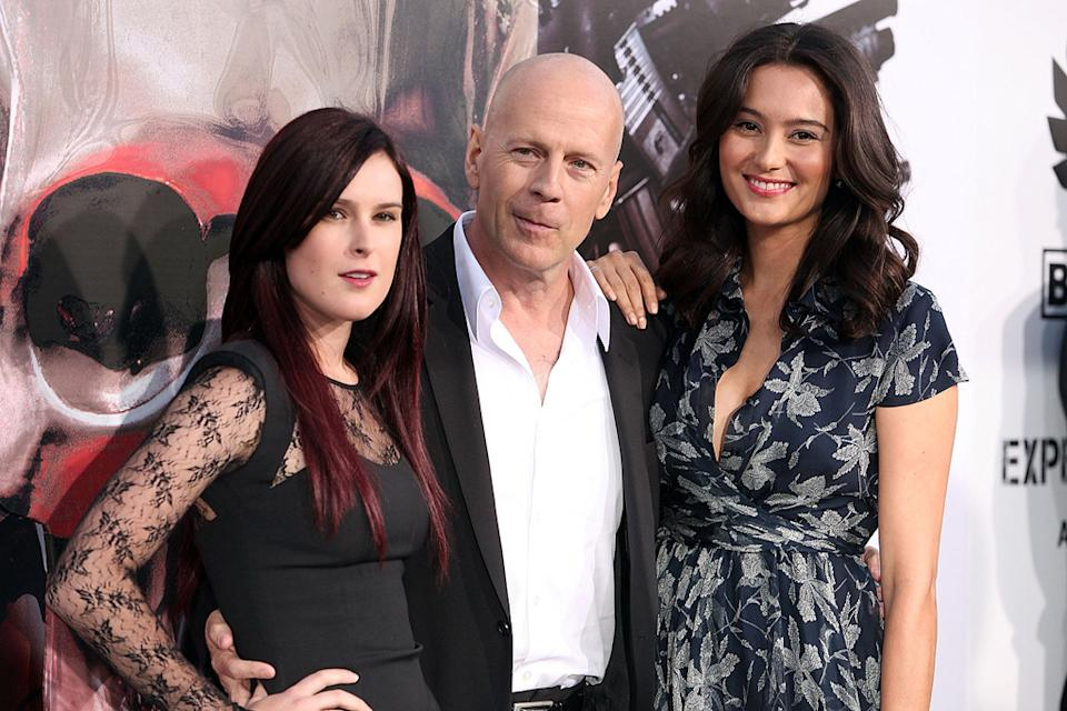 The Expendables LA Premiere 2010 Rumer Willis Bruce Willis Emma Heming