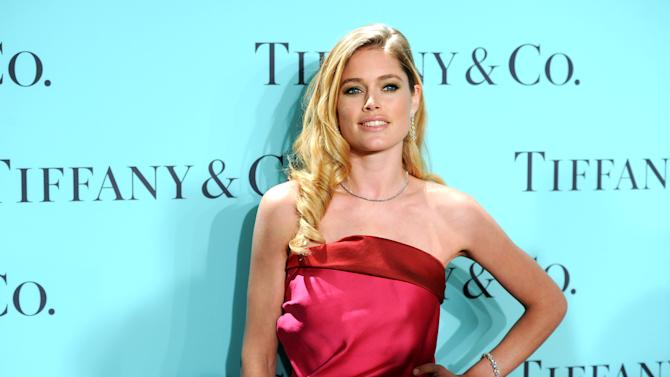 Model Doutzen Kroes attends the Tiffany & Co. Blue Book Ball at Rockefeller Center on Thursday April 18, 2013 in New York. (Photo by Evan Agostini/Invision/AP)