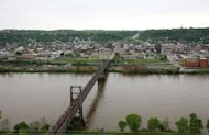 "The town of Steubenville and the Ohio River on May 5, 2009. Two Steubenville teenagers were found guilty Sunday of raping a fellow high school student -- a case made notorious when a video of boys laughing about the assault on the ""dead"" drunk girl went viral"